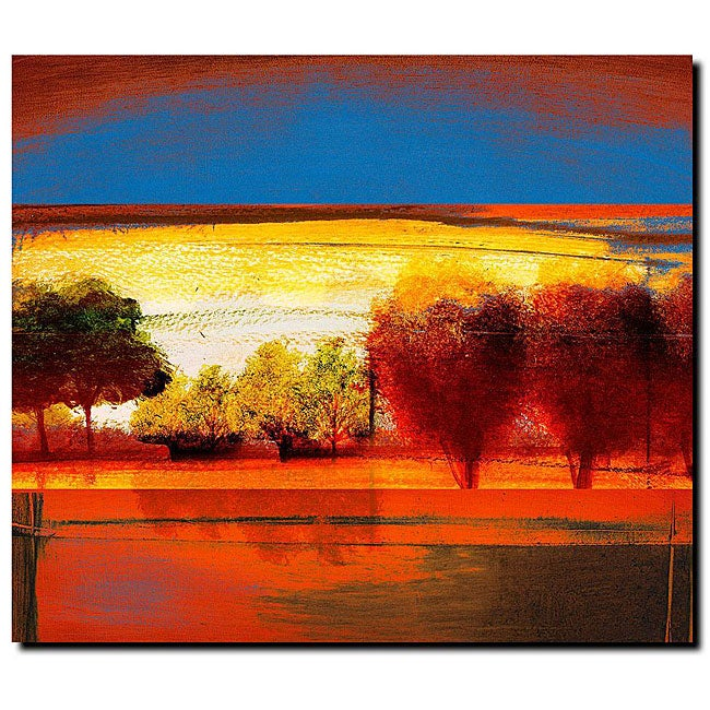 Miguel Paredes Red Dawn II Gallery wrapped Canvas Art