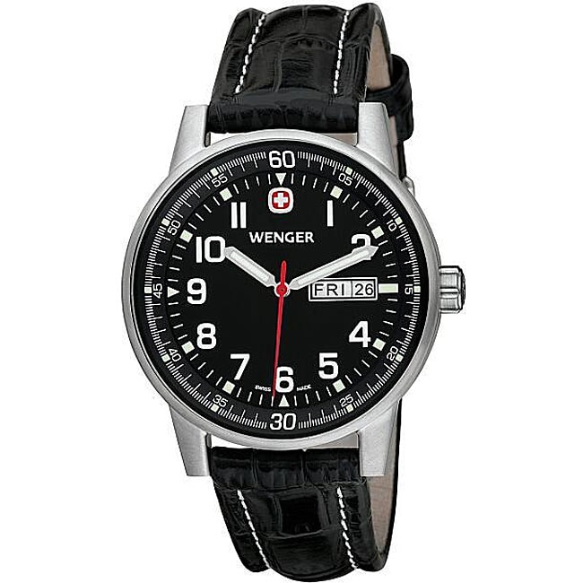 Wenger Men's Swiss Military Commando Day-Date XL Black Watch