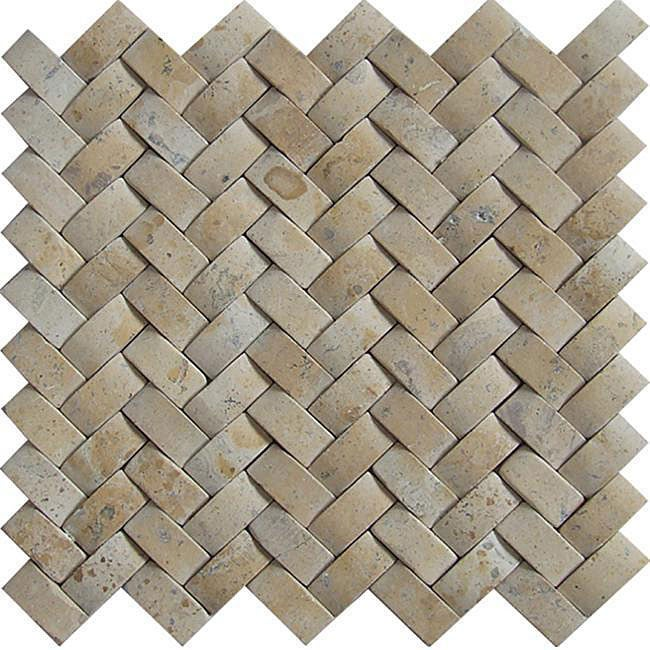 Baden Bath Travertine Basketweave Mosaic Tile Box Of 5 Sq