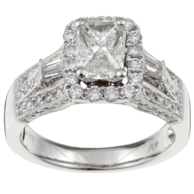 Unending Love 14k Gold 'Emerillion' 1 1/2ct TDW Mixed Cut Diamond Ring (I-J, I1-I2)