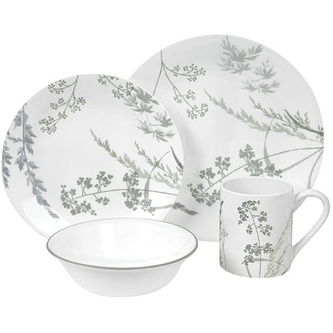 corelle impressions shadow grasses 16 piece dinnerware set 12375700 shopping. Black Bedroom Furniture Sets. Home Design Ideas
