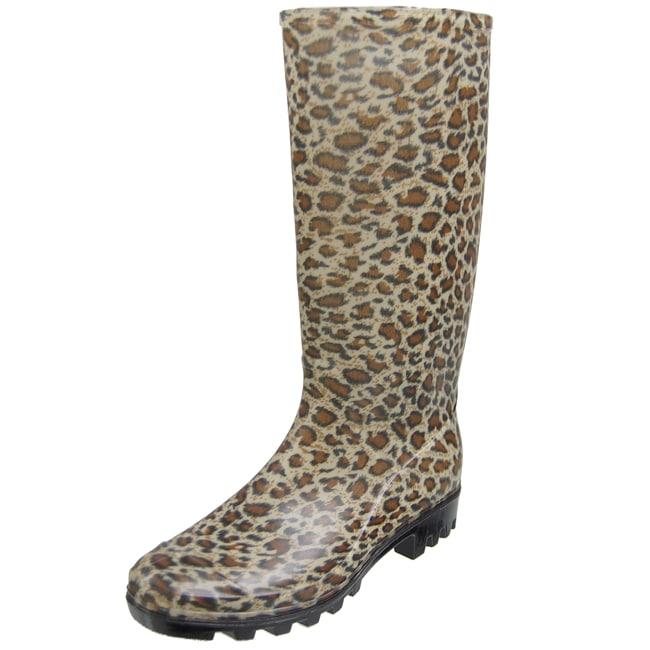 Adi Designs Women's Animal Print Rain Boots