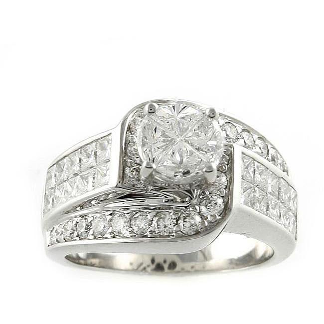 Beverly Hills Charm 18k White Gold 2 5/8ct TDW Diamond Engagement Ring (H-I, SI2-I1)