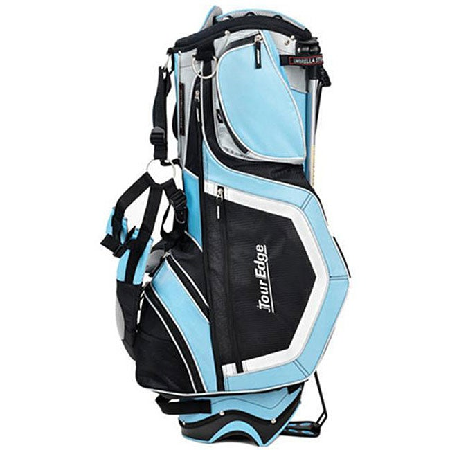 Light Stand Golf Bag: Tour Edge GeoMax Deluxe Light Blue Golf Stand Bag