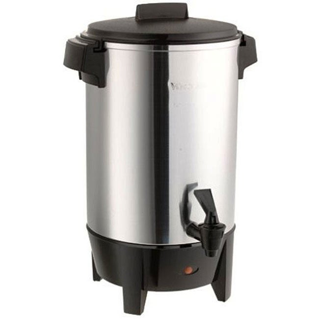 West Bend 58030 30-cup Polished Aluminum Urn - 12382114 - Overstock.com Shopping - Great Deals ...