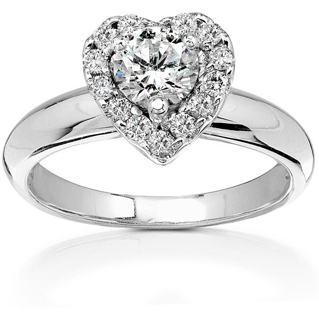 14k Gold 3/4ct TDW Diamond Heart-shape Engagement Ring (HI, I1-I2)