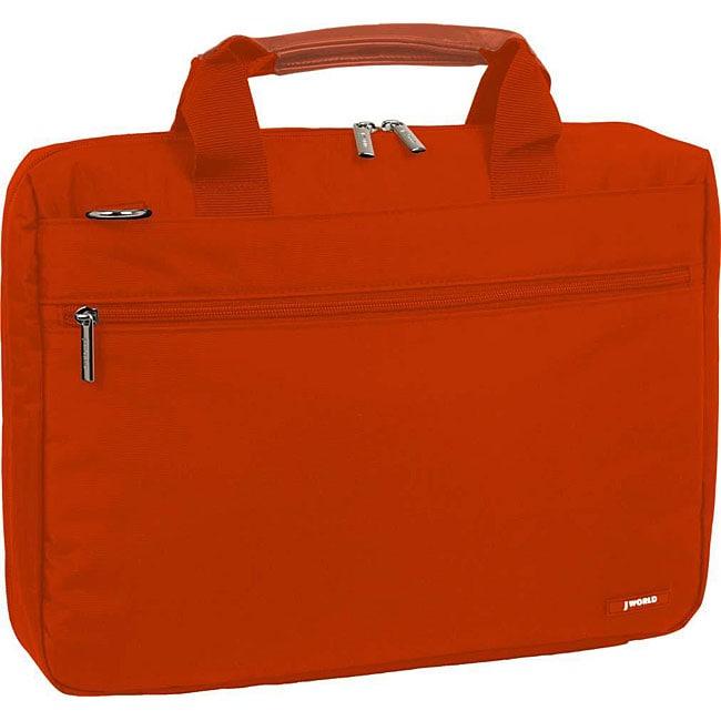 J World Orange 15-inch Laptop Briefcase