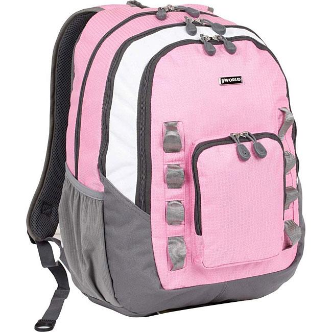 J World Pink School Laptop Backpack