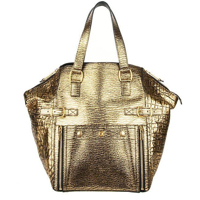 Yves Saint Laurent \u0026#39;Downtown\u0026#39; Metallic Gold Medium Tote - 12384902 ...
