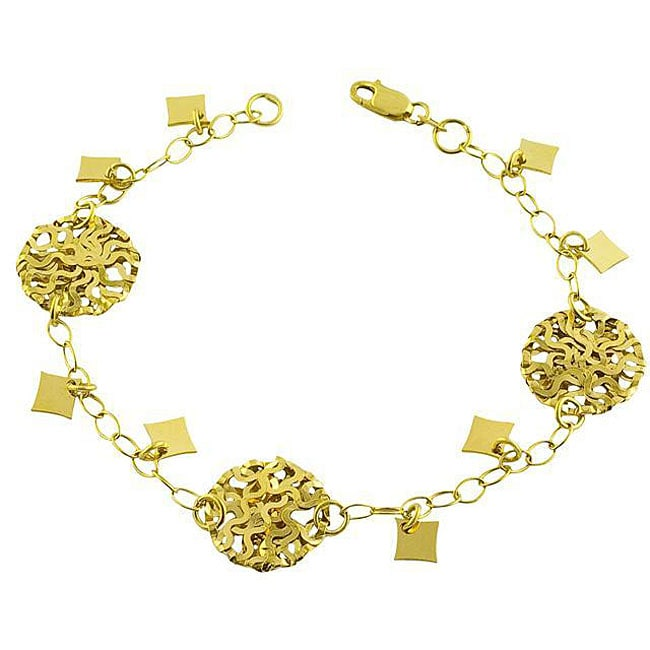 Fremada 14k Yellow Gold Mixed Fantasy Bracelet