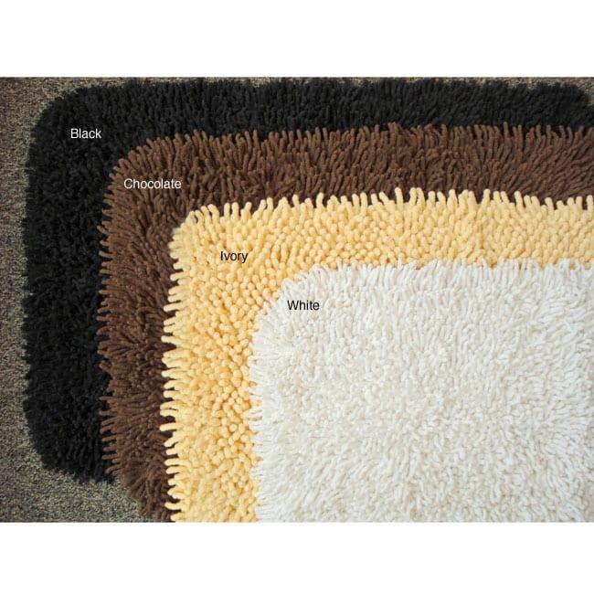 Shag Bathroom Rugs (Set of 2)