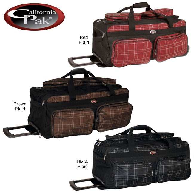 CalPak Challenger Plaid 31-inch Rolling Duffel Bag