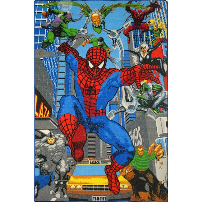 Kids' Blue Spider-man Area Rug (5' x 3')
