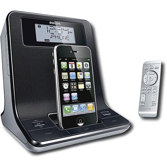 philips dc320 37 digital dual alarm clock radio ipod dock 12410238 overst. Black Bedroom Furniture Sets. Home Design Ideas
