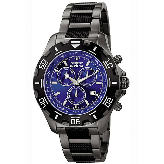 Invicta Men's Invicta II Blue Dial Gunmetal Chronograph Watch