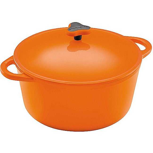 Rachel Ray Cast Iron Orange 7-quart Round Dutch Oven