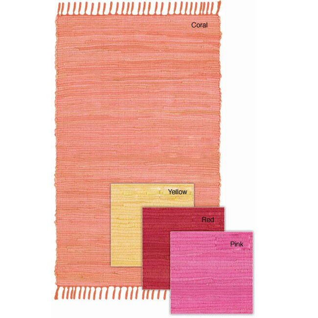 Set of 2 Hand-woven Mandara Rug (5' x 7'6)