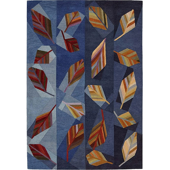 Nourison Hand-tufted Aspects Blue Rug (8' x 11')