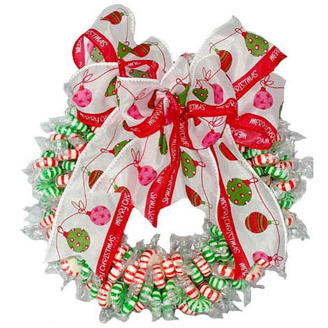 Spearmint and Peppermint Twist Candy Wreath