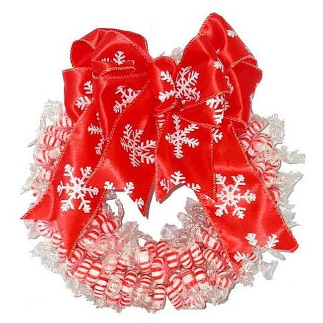 Peppermint Twist Candy Wreath