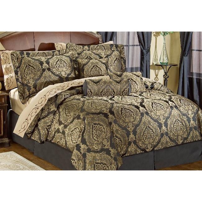 Lafayette 7-piece Black Comforter Set