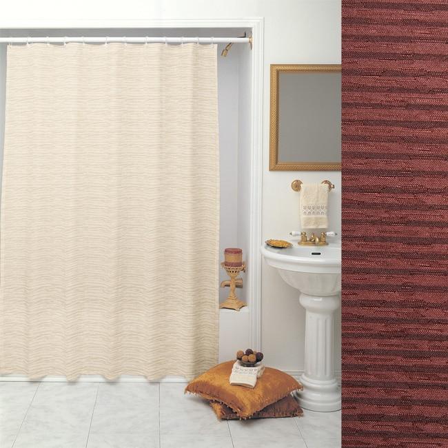 Vibrations Burgundy Shower Curtain