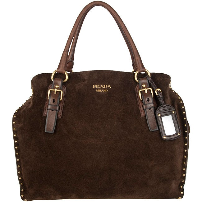 prada bags fake - Prada Brown Suede Tote - 12433808 - Overstock.com Shopping - Big ...