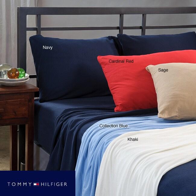 Tommy Hilfiger Jersey Knit 4-piece Egyptian Cotton Sheet Set