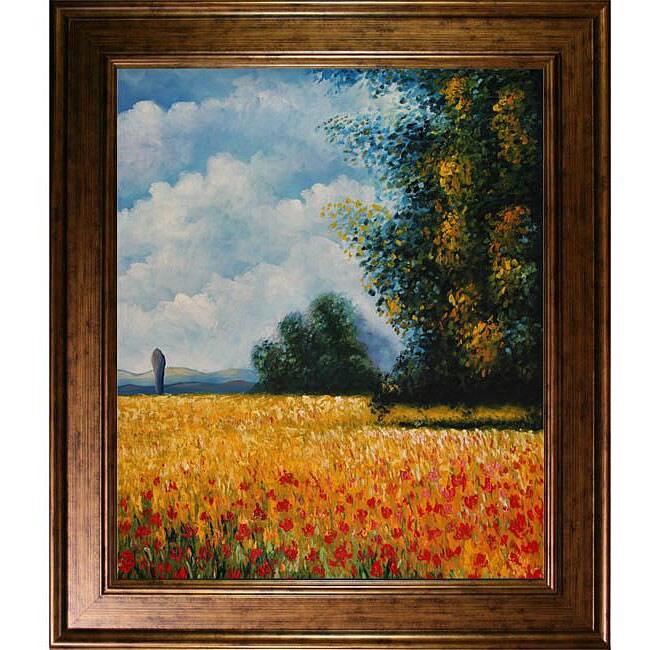 Claude Monet Champ davoine (Oat Field) Framed Art