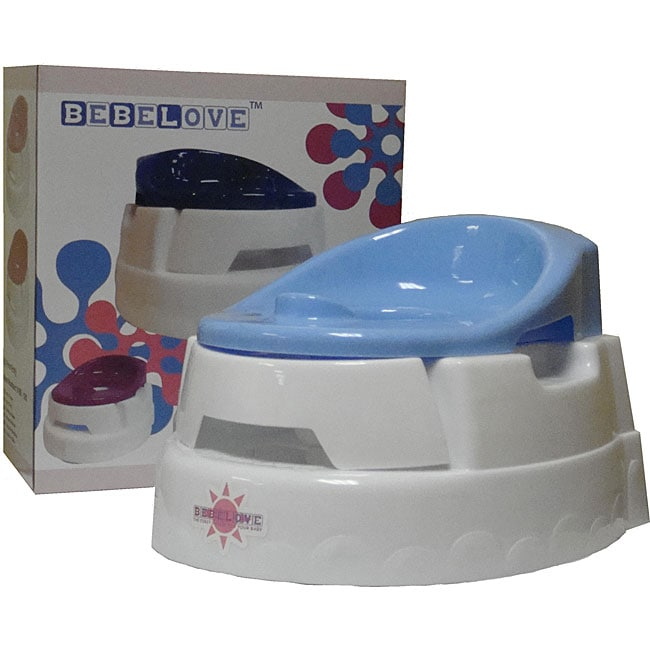 BeBeLove New Baby Blue Plastic Potty