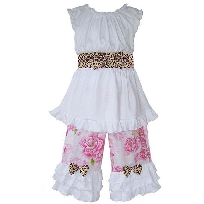 Ann Loren Girl's Boutique Shabby Chic Capri Outfit