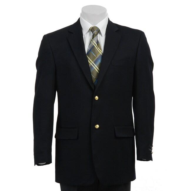 In The Now Men's Blue Wool Blend Blazer