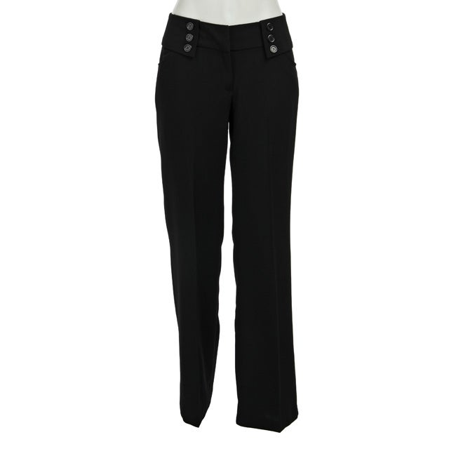 Courtenay Women's Envelope Waist Black Pants