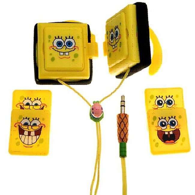 Digital Spongebob Squarepants Wrap Around Headphones