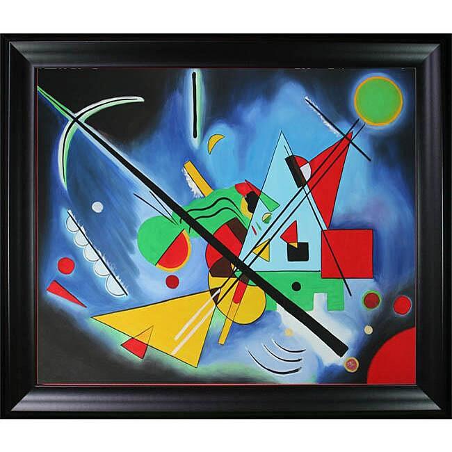 Wassily Kandinsky Blue Painting Oil on Canvas Art