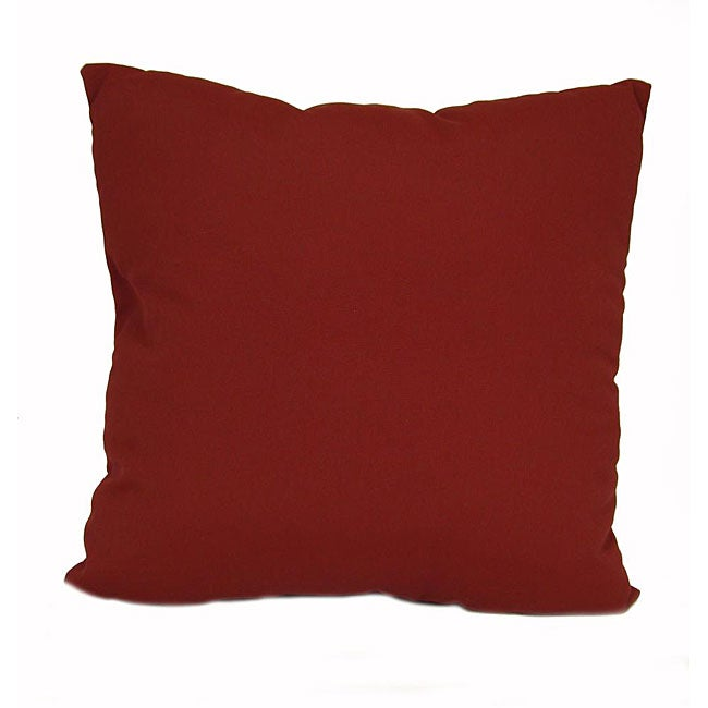 Solid Burgundy Outdoor UV-resistant Decorative Pillows (Set of 2) - 12517311 - Overstock.com ...
