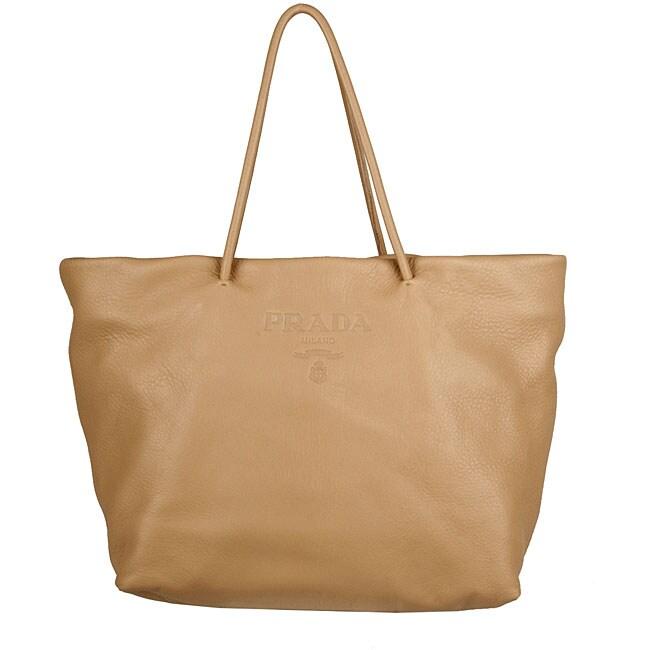 Prada Cervo Beige Deerskin Large Shopping Bag - 12520714 ...
