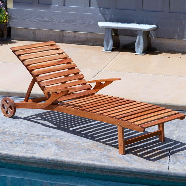 Eucalyptus Wood Adjustable Sun Lounger 12522342