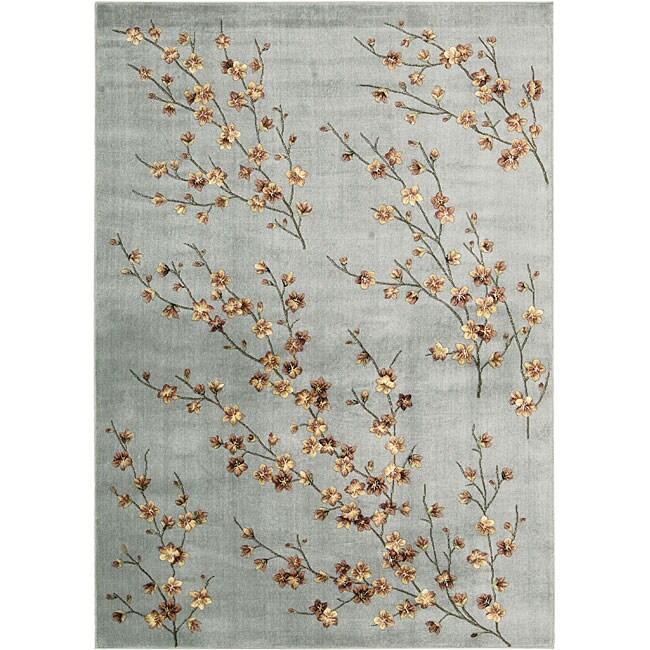 Nourison Aubusson Aqua Floral Rug (9'6 X 13'6) Nourison