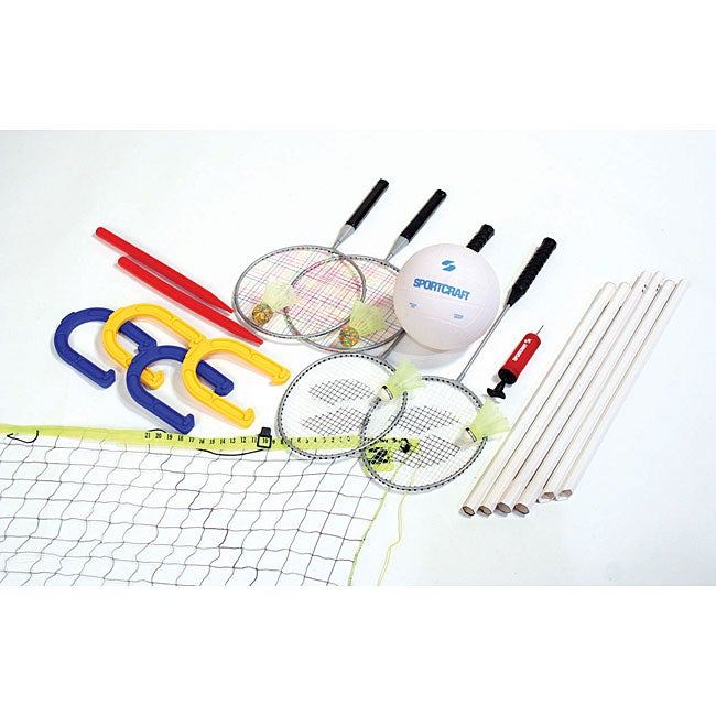 Sportcraft 4-in-1 Combo Outdoor Game Set