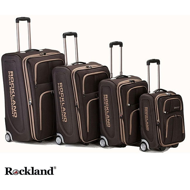 Rockland Polo Equipment Olympian 4 piece Brown Expandable Luggage Set