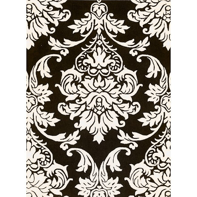 Alliyah Handmade Black New Zealand Blend Wool Rug (4' x 6')