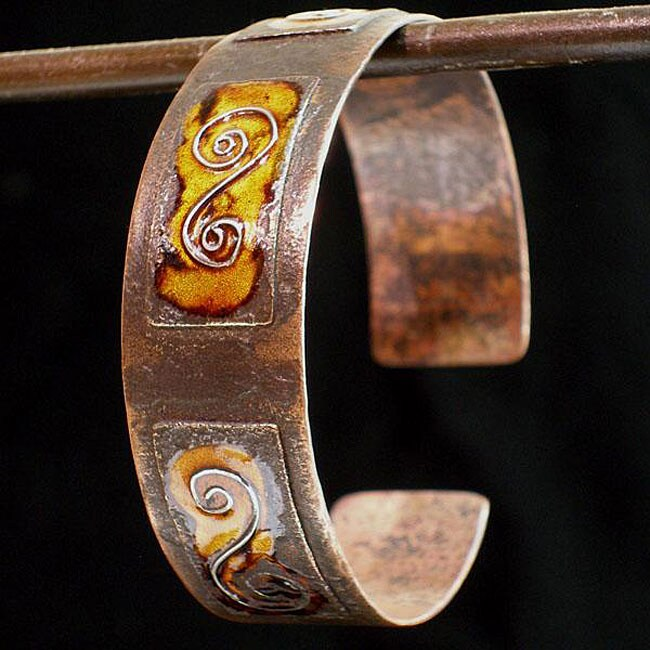 Silver Scroll Cuff Bracelet (Chile)