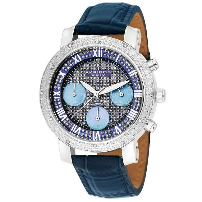 Akribos XXIV Women's Stainless Steel Chronograph Diamond Quartz Watch