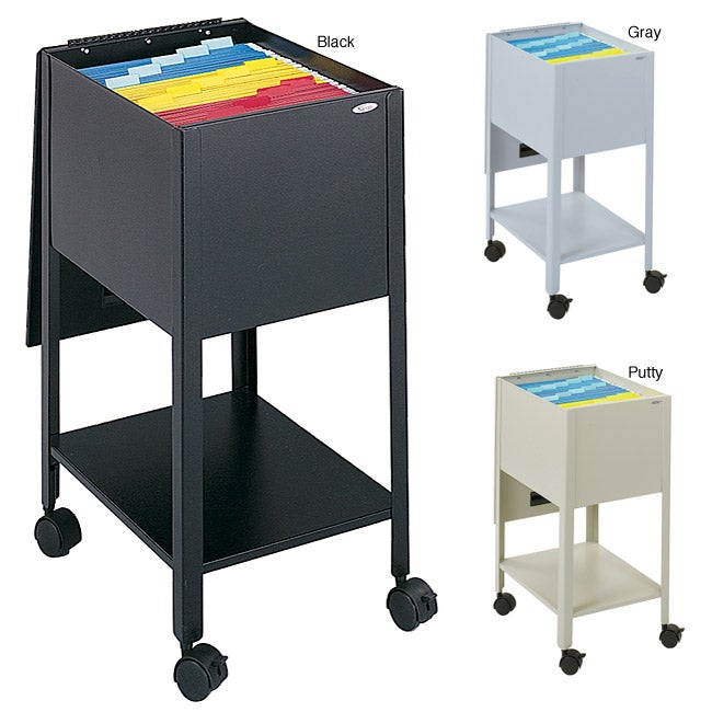 Safco Steel Letter-sized Document Tub File with Swiveling Casters