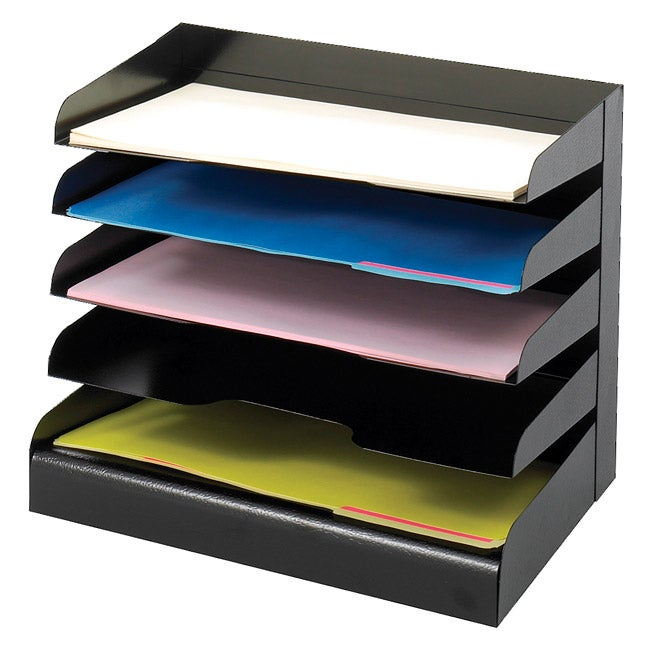 Safco 5-tier Black Legal Size Steel Tray