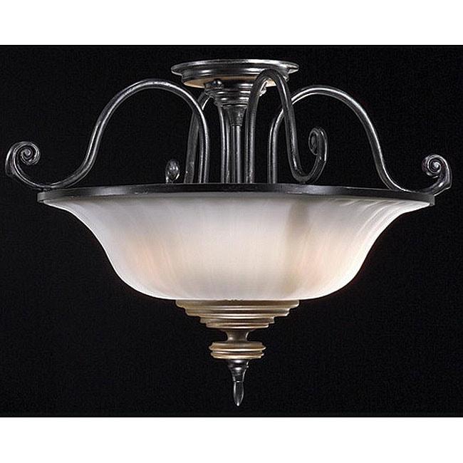 Lexington 3-light Semi-flush Mount Light