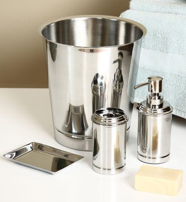 Stainless Steel 4-piece Bath Accessory Set