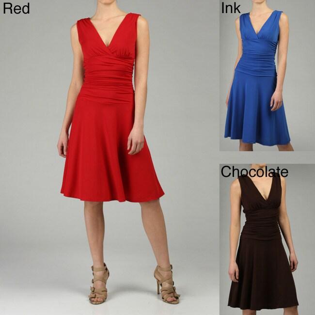 Ruby Women's Double V-neck Jersey Dress