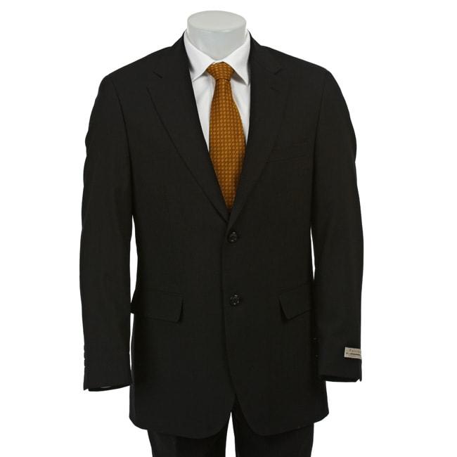 Ferretti Men's Black Wool Suit